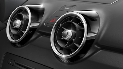 Air vent sleeves in High-gloss black