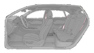 Sicherheitsgurte in Schwarz mit farbigem Rand Audi exclusive