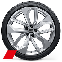 Forged alloy wheels, 5-double-spoke edge style, 9J x 20 with 275/30 R20 tires
