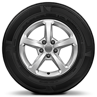 Cast alloy wheels, 5-spoke style, 6.5J x 16 with 215/60 R16 tires