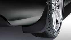 Mud flaps, for the front, for vehicles with four-cylinder petrol engines