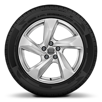 Cast alloy wheels, 5-arm style, 7J x 18 with 235/55 R18 tires