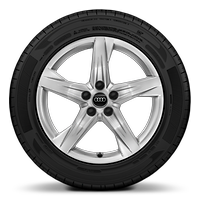 "18"" 5-arm-star design wheels with all-season tires"