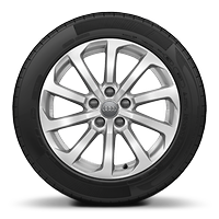 Alloy wheels, 10-spoke turbine style, 7.5J x 17 with 225/45 R17 tires