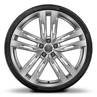 Forged alloy wheels, 5-double-spoke V-style (S style), 8.5J x 21 with 255/35 R21 tires
