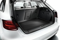Luggage compartment shell, for Saloon models with front-wheel drive and a repair kit / temporary spare wheel or with quattro drive and a repair kit