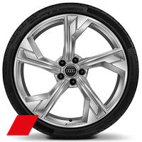 Forged alloy wheels, 5-arm flag style, 9J x 20 with 275/30 R20 tires