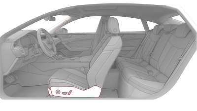 Seat trim parts in leather, Audi exclusive