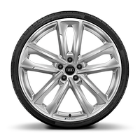 Alloy wheels 9J x 20 in front, with 11.5J x 21 in rear
