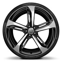 "21"" 5-Spoke Blade design wheels with Black finish, size 9J x 21, with 275/30 performance tires"