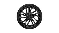 Winterkomplettrad im 5-Segmentspeichen-Design, schwarz glänzend, 9 J x 20, 275/30 R 20 97W XL