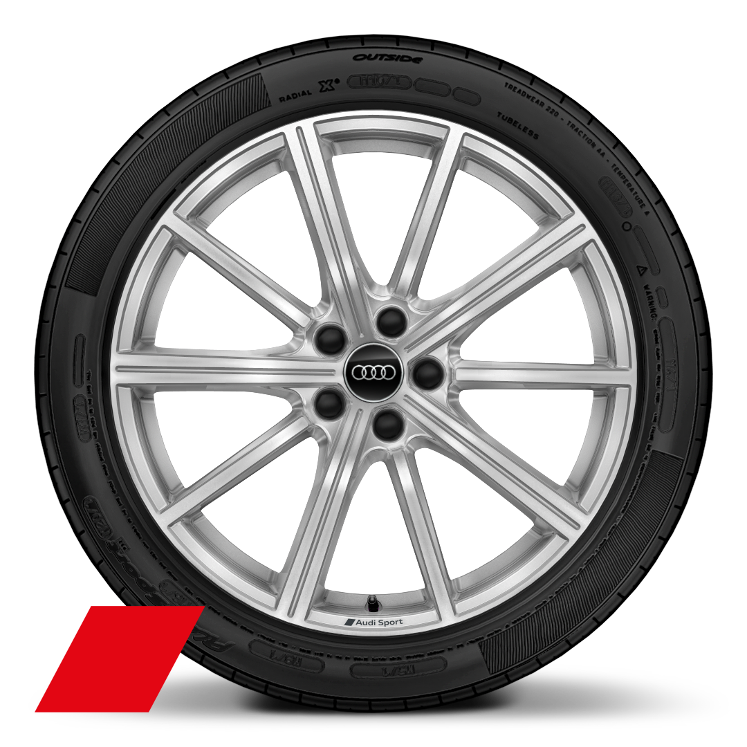 "20"" x 8.5J '10 spoke star' design alloy wheels with 255/40 R20 tyres"