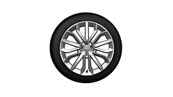 Complete winter wheel in 15-spoke star design, brilliant silver, 7.5 J x 19, 235/45 R19 99V XL, left