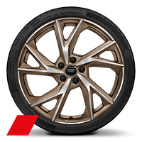 Alloy wheels, 5-V-spoke Evo style, Matte Bronze, diamond-turned, 8.5J|11.0Jx20, 245/30|305/30 R20 tires