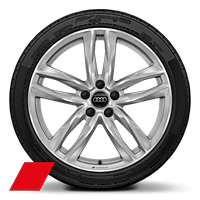 "19"" x 9J 5-double spoke style Audi sport wheel with 245/35 R19 tyres"
