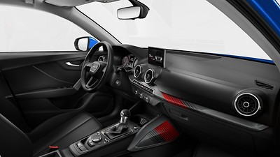 Decorative trims in the interior in rallye style