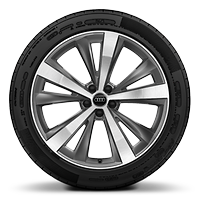 Alloy wheels, 5-arm star style, Graphite Gray, diamond-turned, 10.0J x 21, 285/45 R21 tires