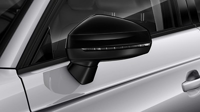 Audi exclusive exterior mirror housings in gloss black