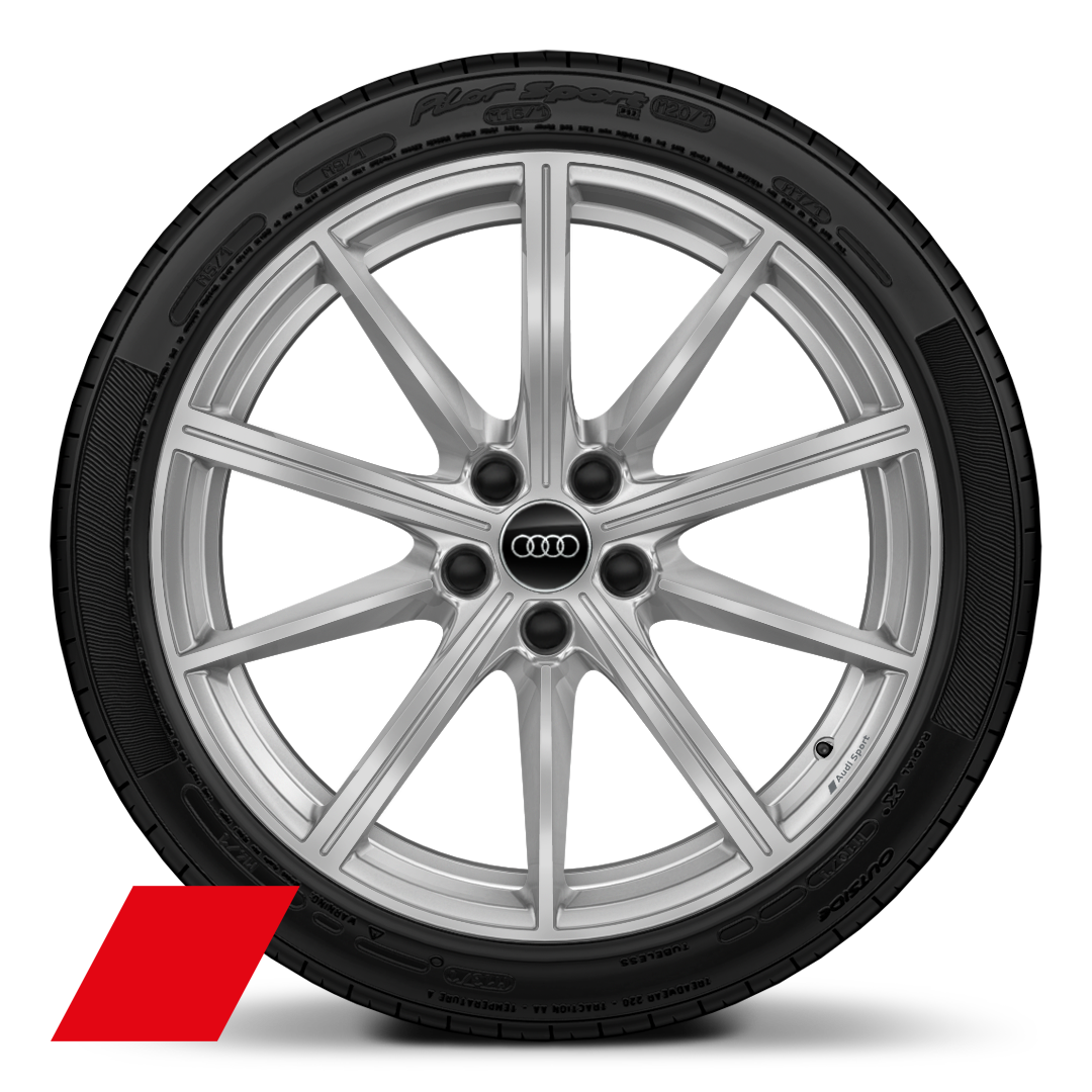 "19"" x 9.0J '10-spoke star' design Audi Sport alloy wheels with 265/35 R19 tyres"