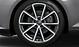 Aluminium-Gussräder Audi Sport im 5-V-Speichen-Design, Titanoptik matt, glanzgedreht, Größe 8,5 J x 19, mit Reifen 245/35 R 19