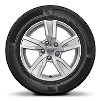 Cast alloy wheels, 5-arm style, 7J x 16, with 205/60 R16 tires