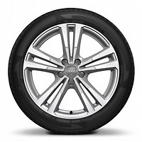 "18"" x 7.5J '5-parallel-spoke' design alloy wheels, diamond cut finish with 225/40 R18 tyres"