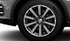 Cast alu. alloy wheels, 10-spoke star des., contrast. grey, part. pol., 9J x 20, with 285/45 R 20 tyres