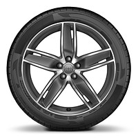 "18"" x 7.5J '5-arm Wing' design high gloss titanium finish alloy wheels with 225/35 R18 tyres"