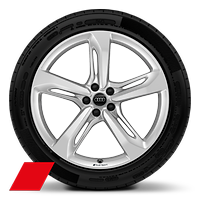 "21"" Audi Sport alloy wheels in 5-spoke blade style with 285/40 tyres"
