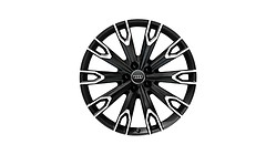 Cast aluminium wheel in 10-arm talea design, matt black, high-gloss turned finish, 9.5 J x 21.  Please note price does not include tyres.