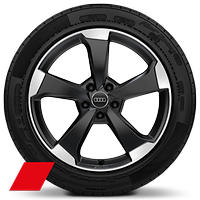 "19"" Audi Sport alloy wheels in 5-arm-rotor design with 235/40 R19 tyres"