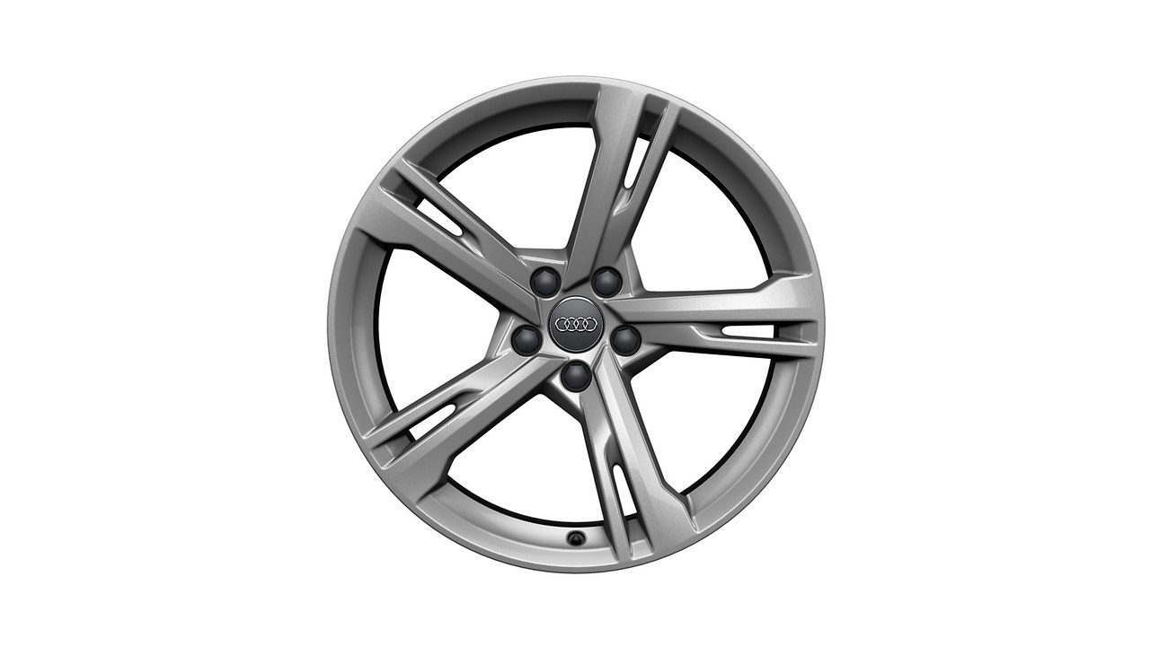 Cast aluminium winter wheel in 5-arm ramus design, brilliant silver, 8.5 J x 19. Requires tyres ordered separately.