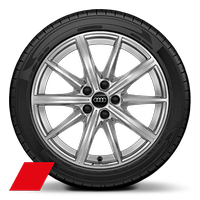 Alloy wheels, 10-spoke star style, 8.0J x 18, 225/40 R18 tires, Audi Sport GmbH