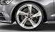 Audi Sport cast alum. alloy wheels, 5-arm turbine des., magn. look, mach. pol., 8.5 J x 19, 255/40 R 19 tyres