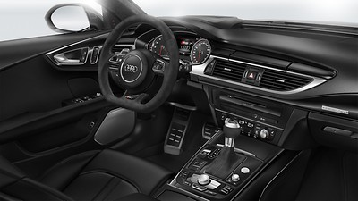 "Controls in black ""suede"" Audi exclusive"