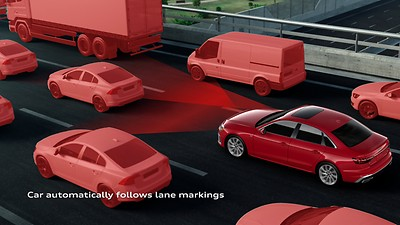 Audi adaptive cruise control with Traffic jam assist