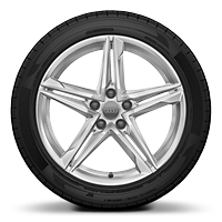 "18"" 5-Double Spoke Star design wheels, size 8.0J x 18, with 245/40 performance tires"
