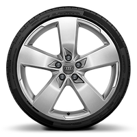 Cast alloy wheels, 5-arm style (S style), 8.5J x 20 with 255/40 R20 tires