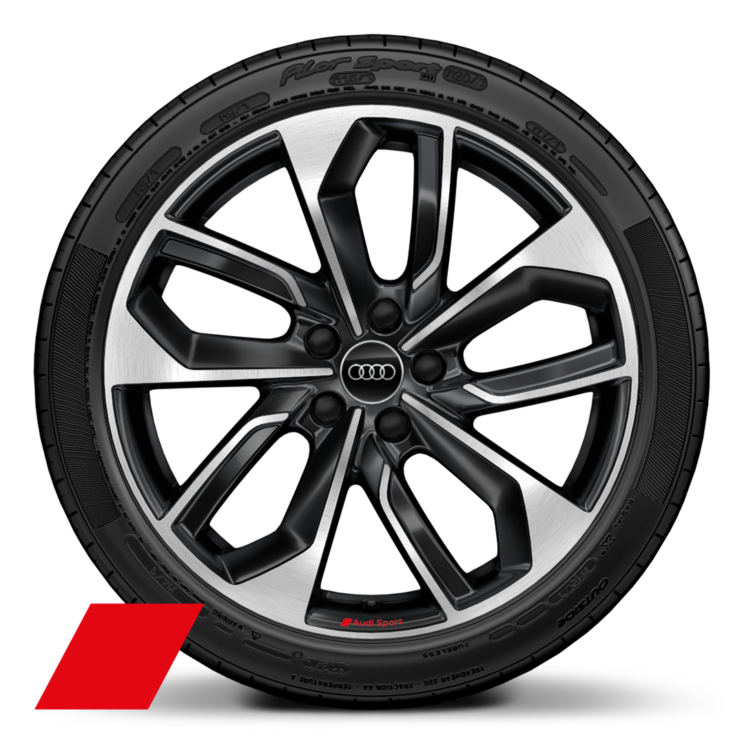 "19"" x 8.0J '5-twin-spoke edge' design alloy wheels in anthracite black, diamond cut finish with 235/35 R19 tyres"