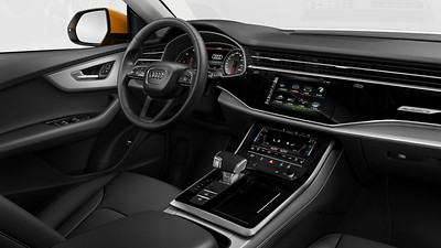 Lower interior elements in leather
