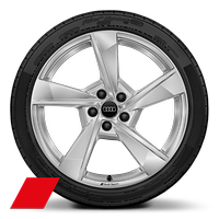 Audi Sport cast alloy wheels, 5-arm Torsio style, 8.5J x 19, model-specific tires