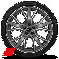 """20"""" 5-V-spoke star design, matte titanium wheels"""