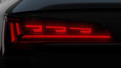 OLED rear combination lamps with specific rear position light signature 1