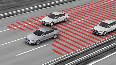 Lane change warning incl. Audi pre sense rear, exit warning and rear cross traffic assist