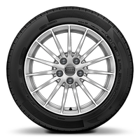 Forged alloy wheels, 15-spoke style, 7.5J x 17, 225/55 R17 tires