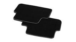 Premium textile floor mats, for the rear, black/steel grey