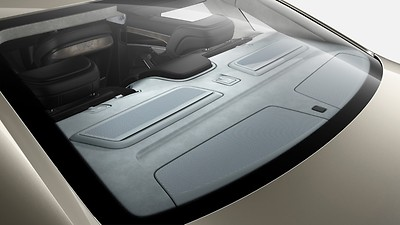 Rear shelf in Alcantara, Audi exclusive
