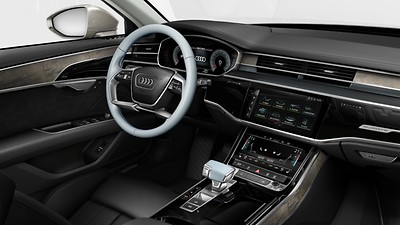 Bedienelemente in Leder Audi exclusive