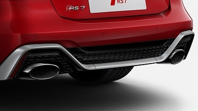 Rear exhaust tailpipe (standard)