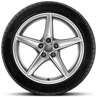 Cast alloy wheels, 5-arm star style, 8.5J x 18 with 245/40 R18 tires
